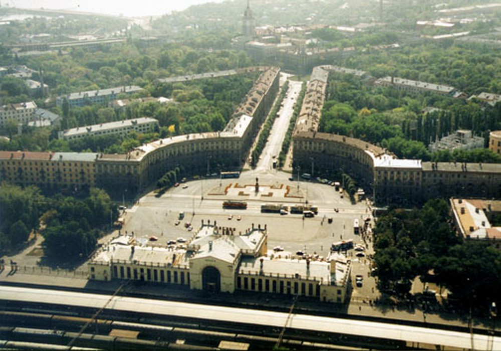 Вокзал в Воронеже с высоты птичьего полета фото