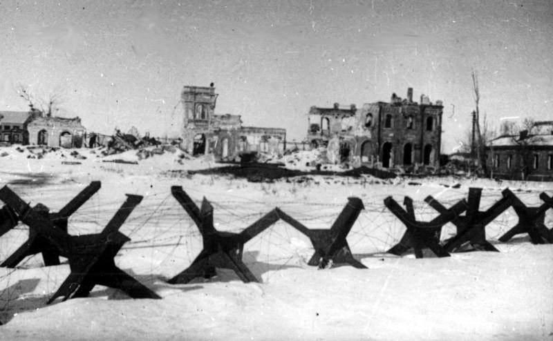 Взорванный вокзал в Воронеже в годы ВОВ фото