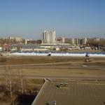 Юго-Западный рынок в Воронеже с высоты фото