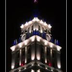 Башня ЮВЖД ночью в Воронеже фото
